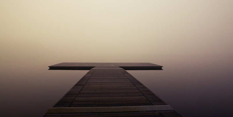 Fog foggy jetty